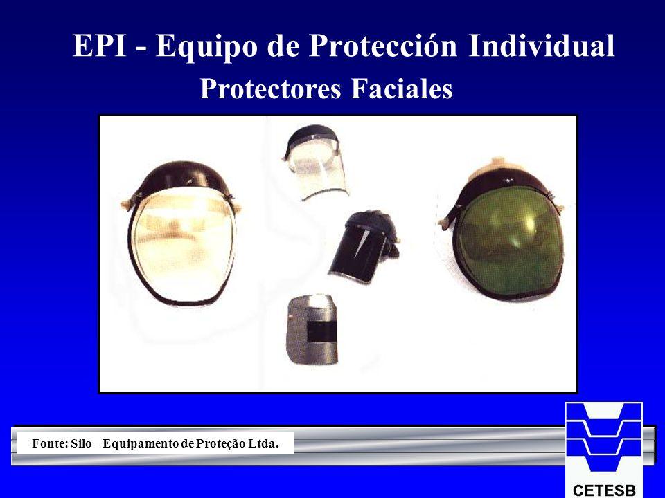 EPI - Equipo de Protección Individual Protectores Faciales Fonte: Silo - Equipamento de Proteção Ltda.