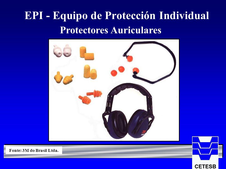 EPI - Equipo de Protección Individual Protectores Auriculares Fonte: 3M do Brasil Ltda.