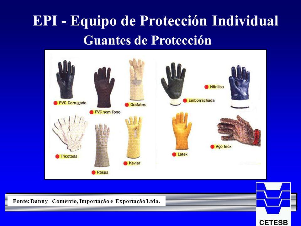 EPI - Equipo de Protección Individual Guantes de Protección Fonte: Danny - Comércio, Importação e Exportação Ltda.