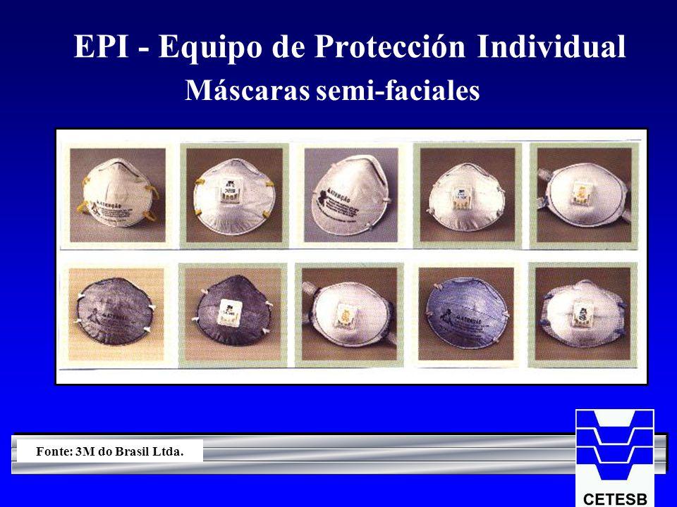 EPI - Equipo de Protección Individual Máscaras semi-faciales Fonte: 3M do Brasil Ltda.