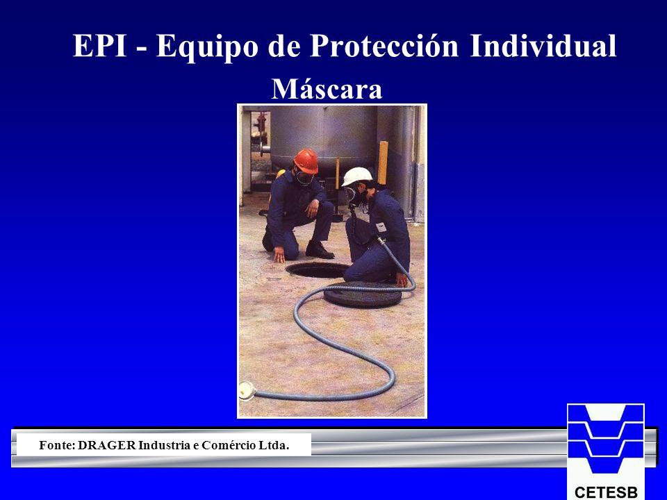 EPI - Equipo de Protección Individual Máscara Fonte: DRAGER Industria e Comércio Ltda.