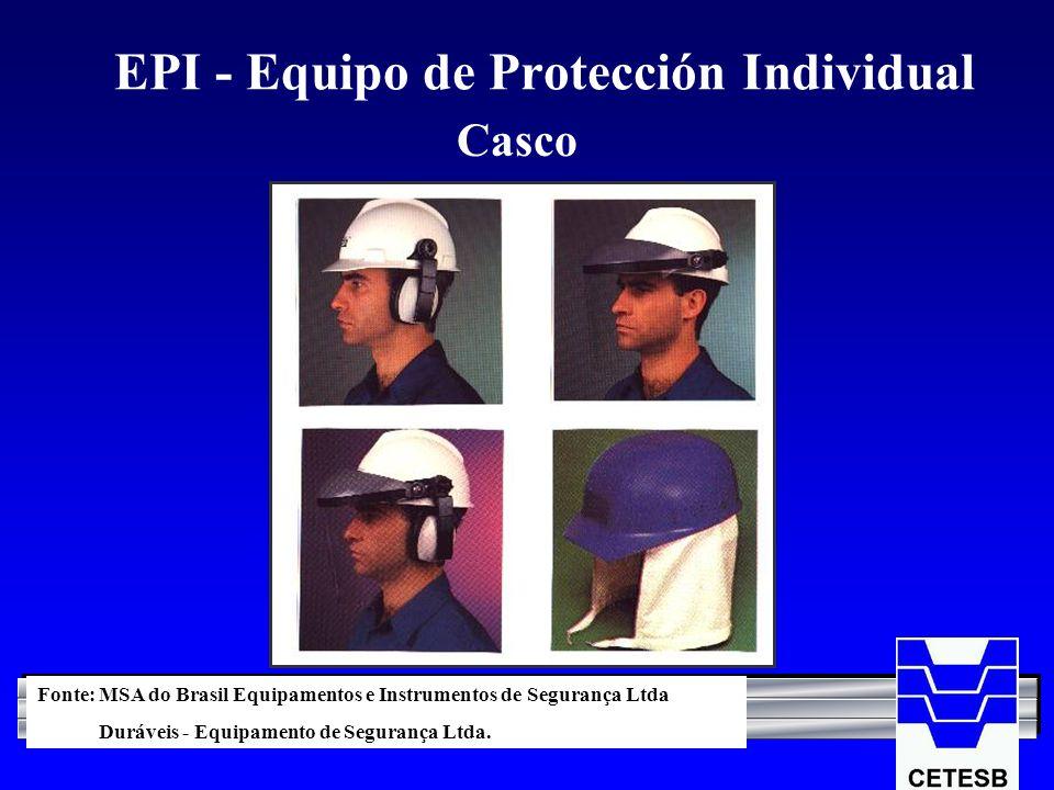 EPI - Equipo de Protección Individual Casco Fonte: MSA do Brasil Equipamentos e Instrumentos de Segurança Ltda Duráveis - Equipamento de Segurança Ltd