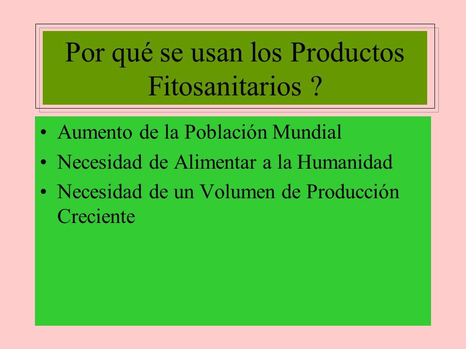 Por qué se usan los Productos Fitosanitarios .