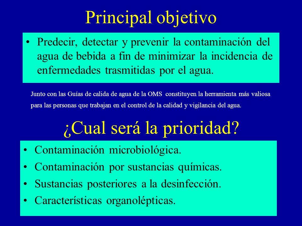 Principal objetivo Predecir, detectar y prevenir la contaminación del agua de bebida a fin de minimizar la incidencia de enfermedades trasmitidas por