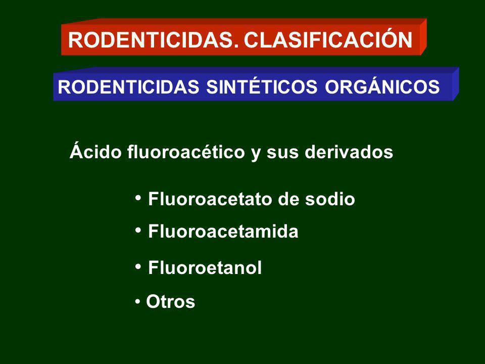 Depresión de la síntesis hepática de sustancias esenciales para la coagulación de la sangre Protrombina (factor II) Los factores VII, IX y X Aumento de la permeabilidad capilar RODENTICIDAS ANTICOAGULANTES MECANISMO DE ACCIÓN