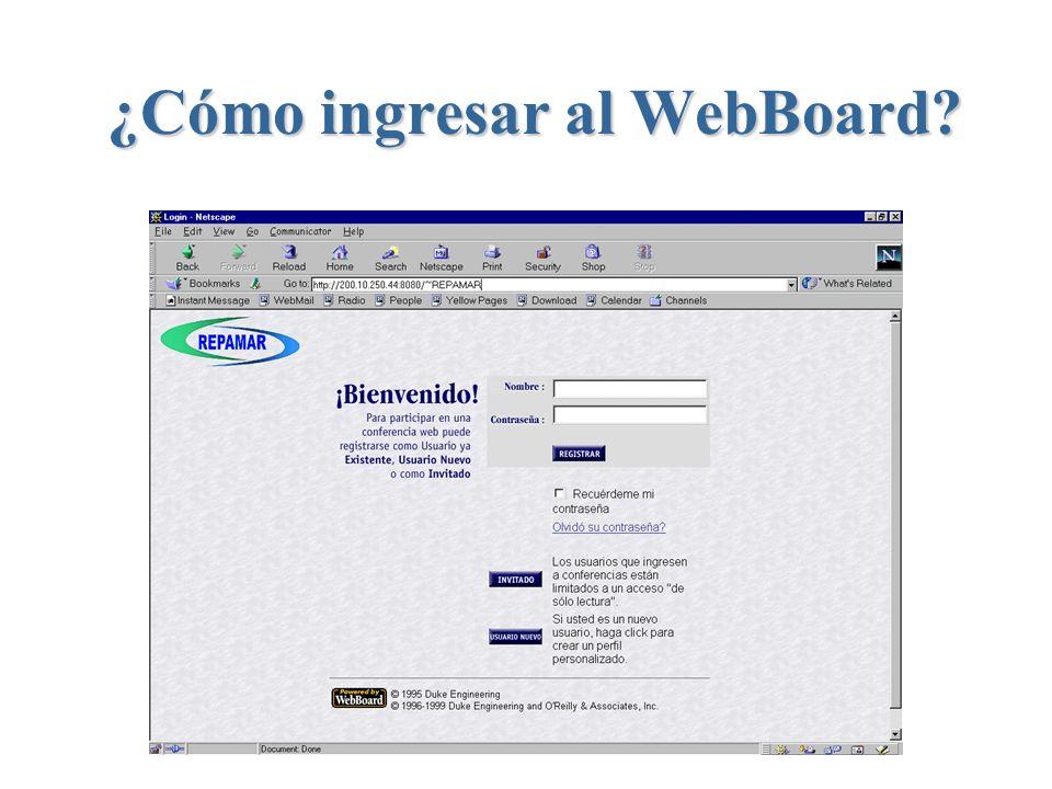 ¿Cómo ingresar al WebBoard?