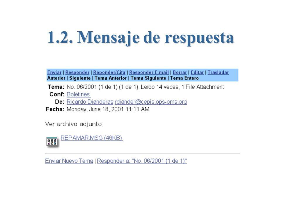 1.2. Mensaje de respuesta