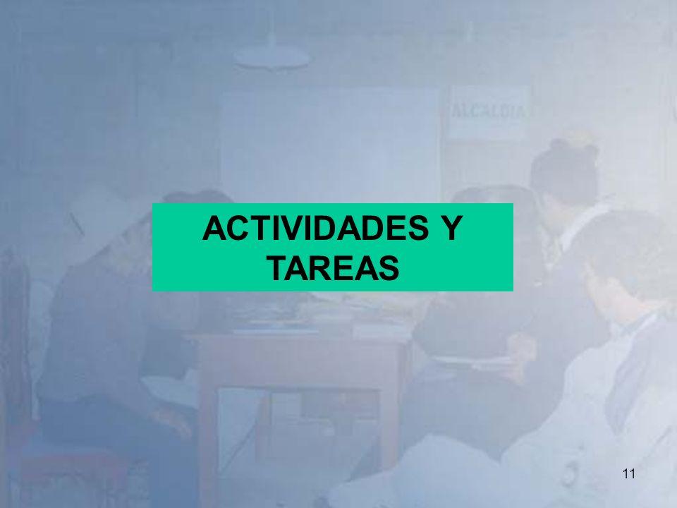 11 ACTIVIDADES Y TAREAS
