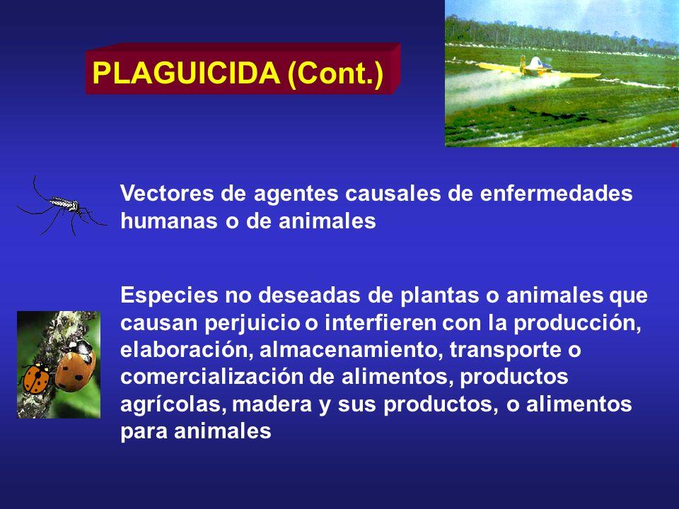 Especies no deseadas de plantas o animales que causan perjuicio o interfieren con la producción, elaboración, almacenamiento, transporte o comercializ