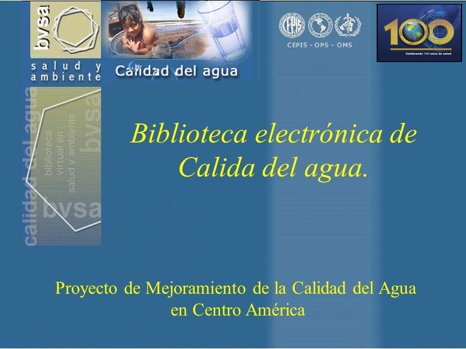 Biblioteca electrónica de Calida del agua.