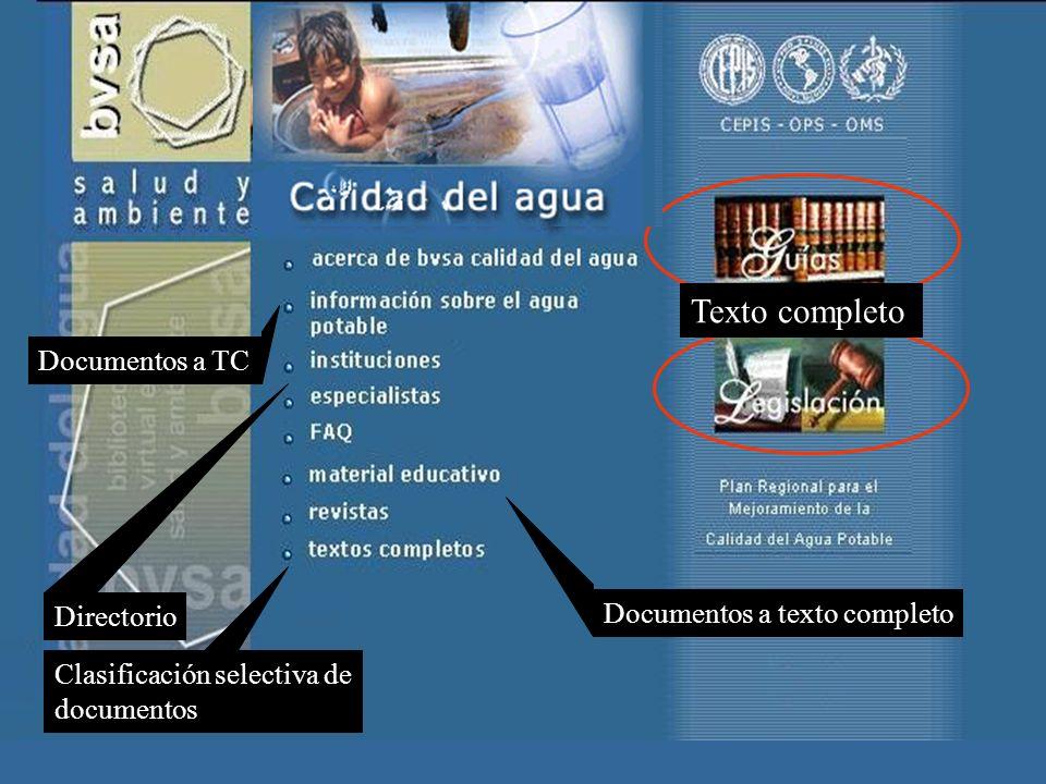 Directorio Documentos a texto completo Documentos a TC Clasificación selectiva de documentos Texto completo