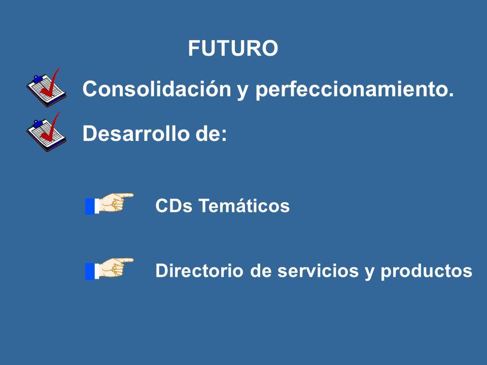 FUTURO Consolidación y perfeccionamiento.
