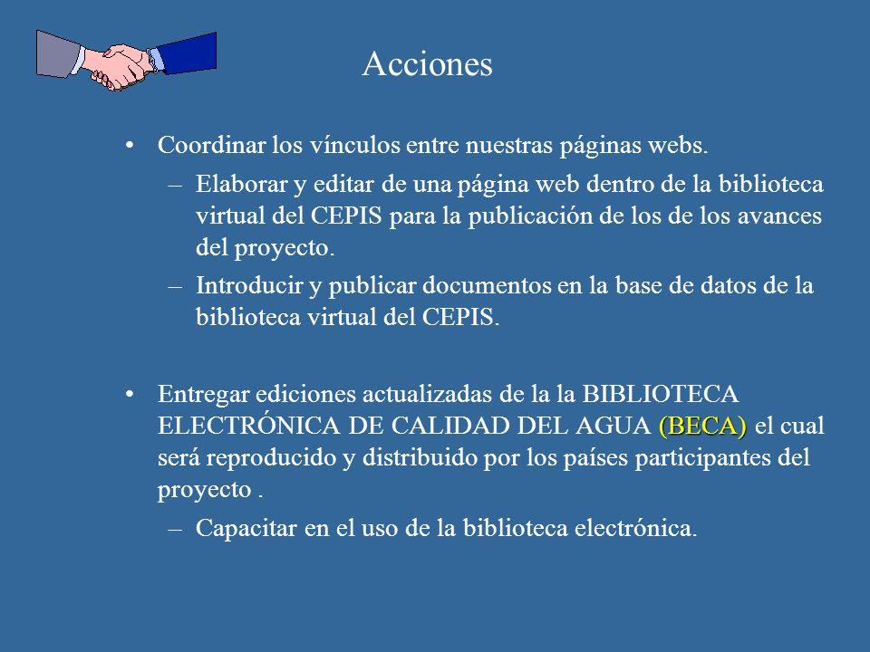 BIBLIOTECA ELECTRONICA Reune mediante metodología común y control de calidad, fuentes de información.