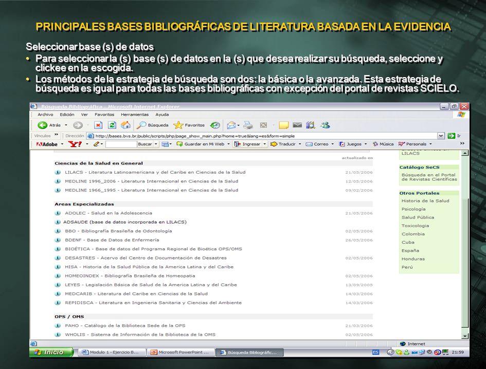 Búsqueda libre por palabra clave La búsqueda básica solamente busca palabras del título del artículo, palabras del resumen, nombre de sustancias, nombre de personas como asunto, y descriptores de asunto.