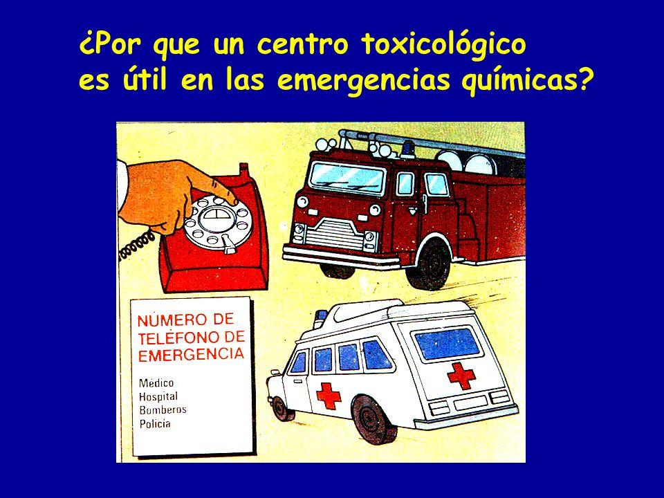 ¿Por que un centro toxicológico es útil en las emergencias químicas?