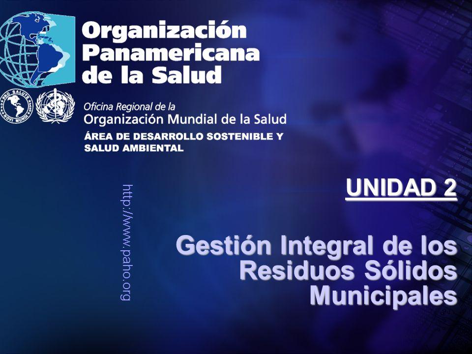 http://www.paho.org Gestión Integral de los Residuos Sólidos Municipales UNIDAD 2