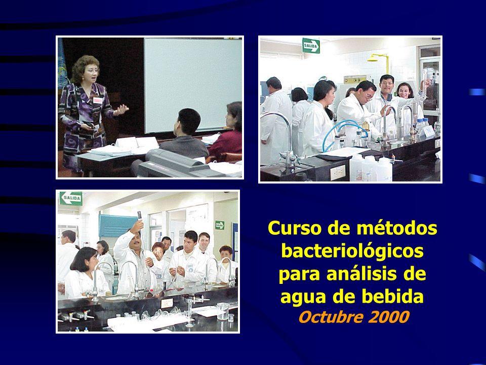 Curso de métodos bacteriológicos para análisis de agua de bebida Octubre 2000