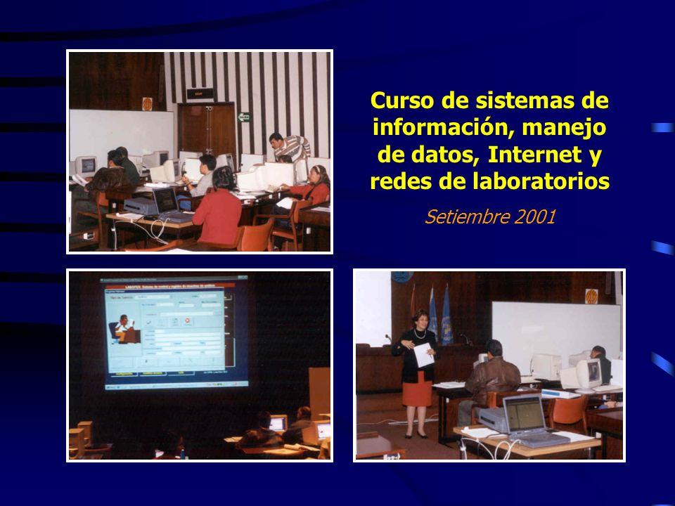 Curso de sistemas de información, manejo de datos, Internet y redes de laboratorios Setiembre 2001