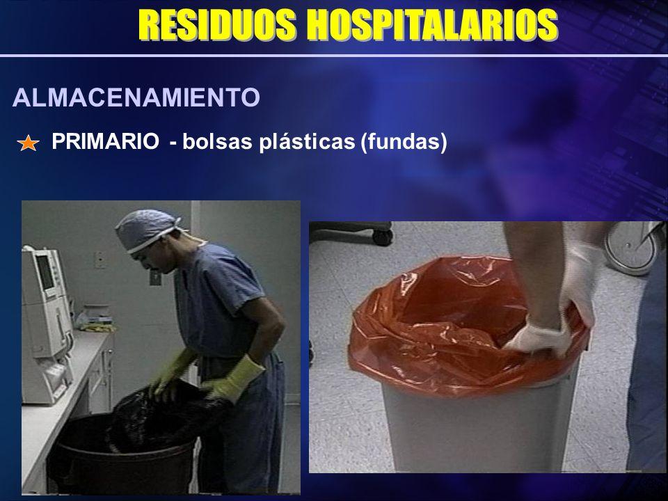 PRIMARIO - bolsas plásticas (fundas) ALMACENAMIENTO