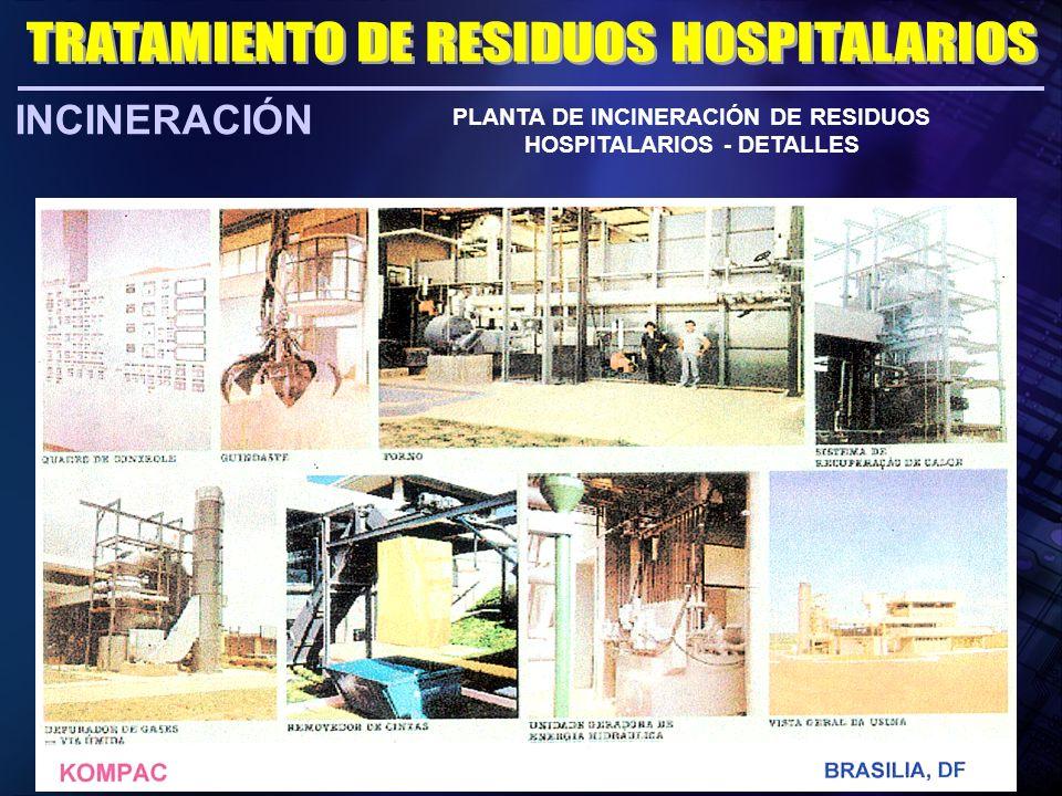 INCINERACIÓN PLANTA DE INCINERACIÓN DE RESIDUOS HOSPITALARIOS - DETALLES