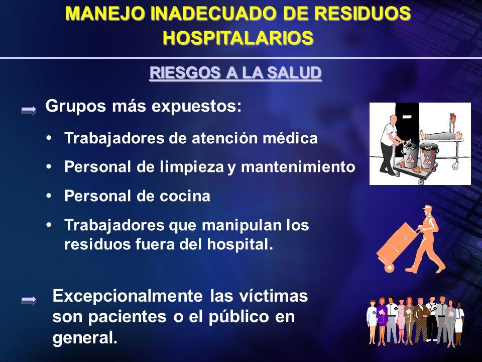 CLASIFICACIÓN DE ALEMANIA TIPO A: RESIDUOS COMUNES TIPO B: RESIDUOS POTENCIALMENTE INFECCIOSOS TIPO C: RESIDUOS INFECTO - CONTAGIOSOS TIPO E: RESIDUOS PELIGROSOS