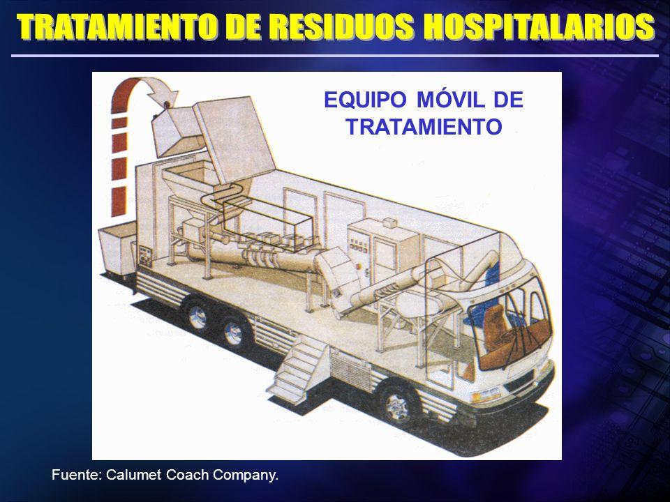 EQUIPO MÓVIL DE TRATAMIENTO Fuente: Calumet Coach Company.