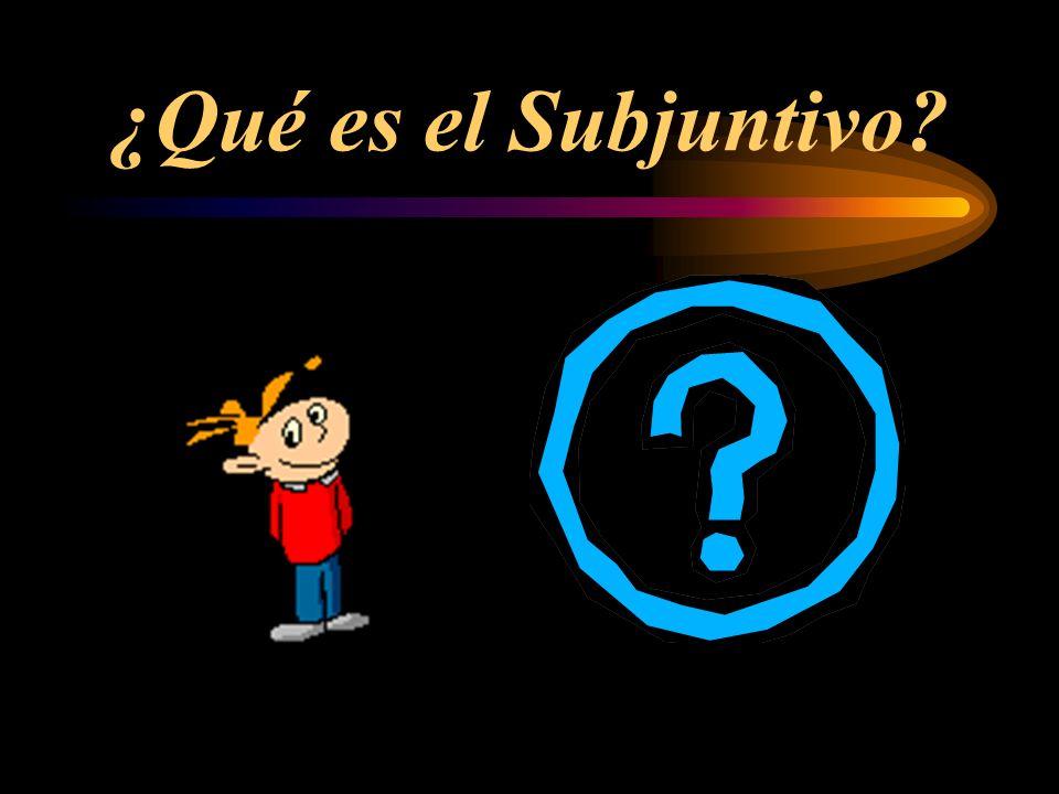 ¿Qué es el Subjuntivo?