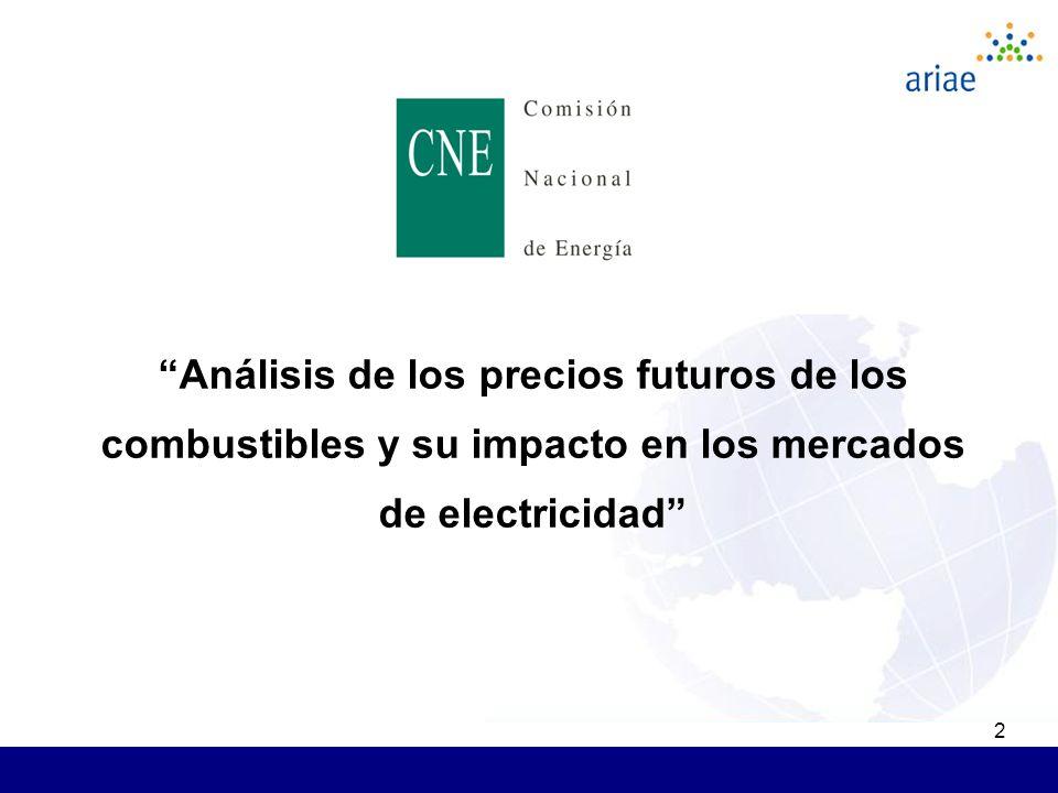 2 Análisis de los precios futuros de los combustibles y su impacto en los mercados de electricidad