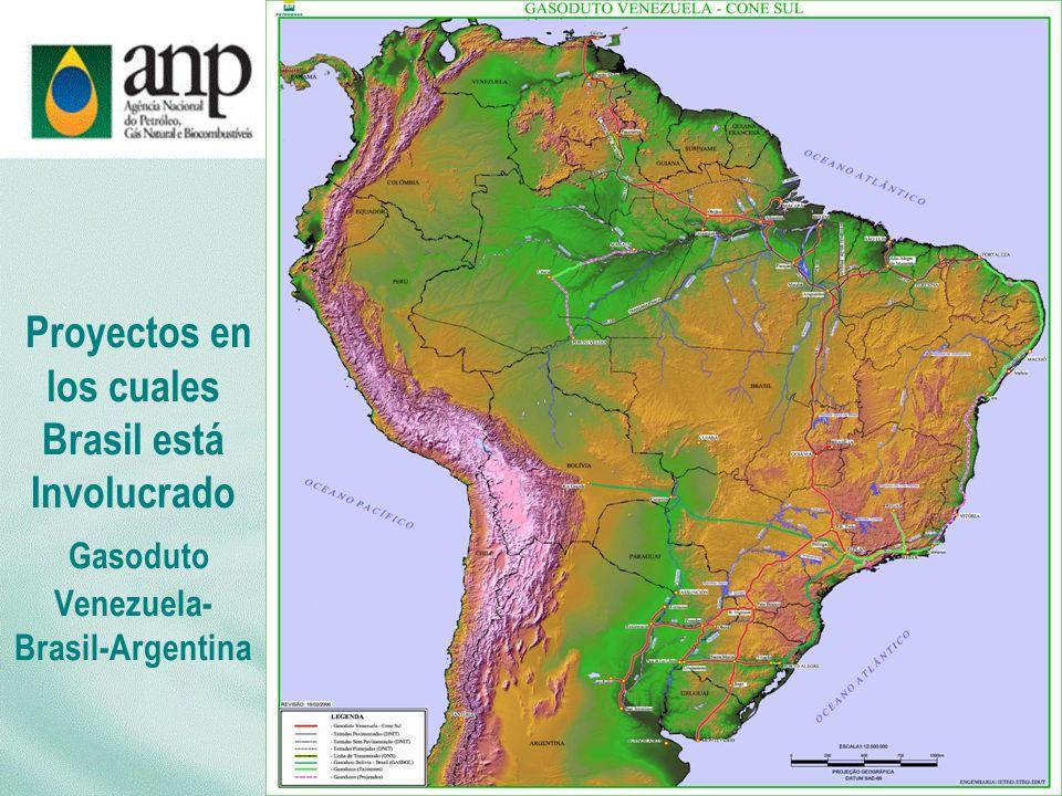 Proyectos en los cuales Brasil está Involucrado Gasoduto Venezuela- Brasil-Argentina