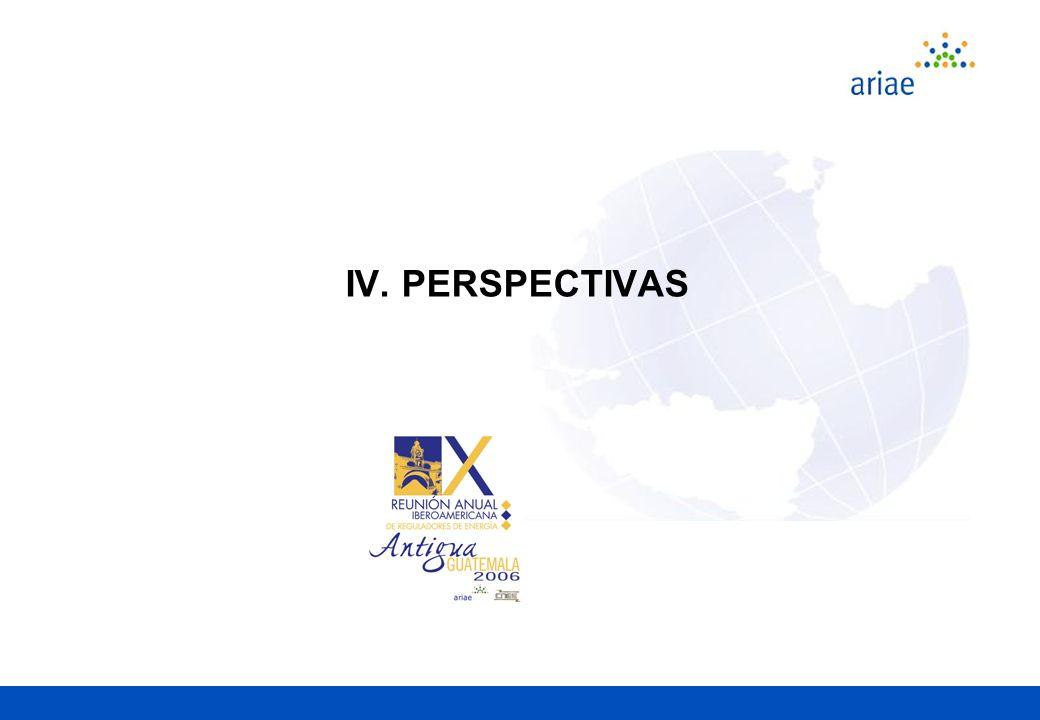 IV. PERSPECTIVAS