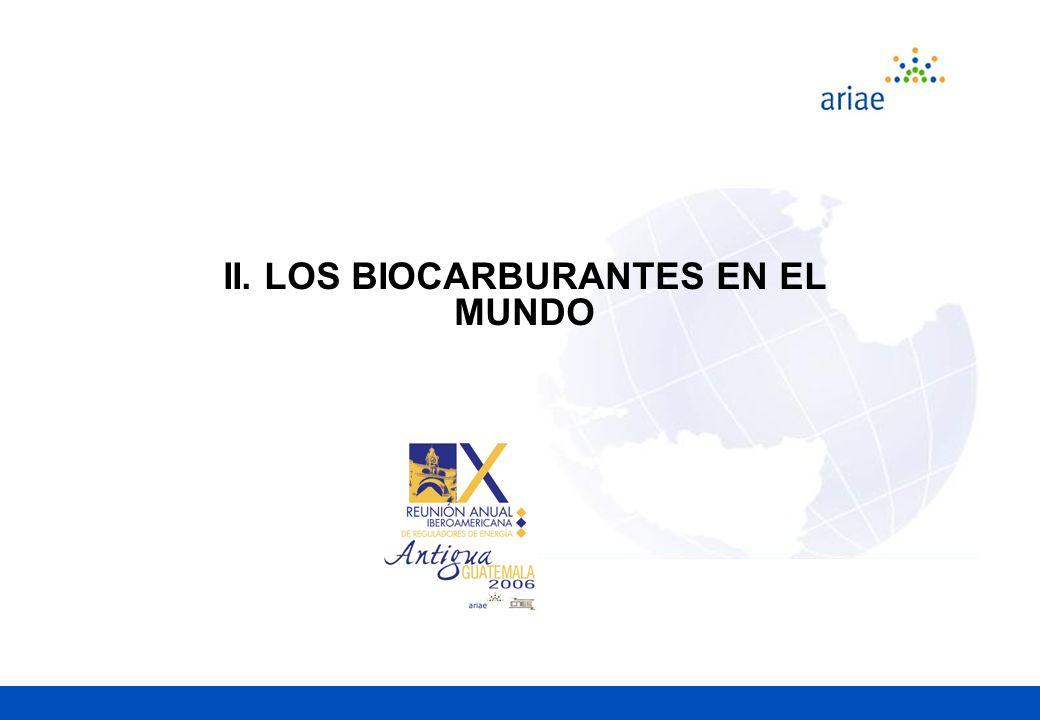 II. LOS BIOCARBURANTES EN EL MUNDO