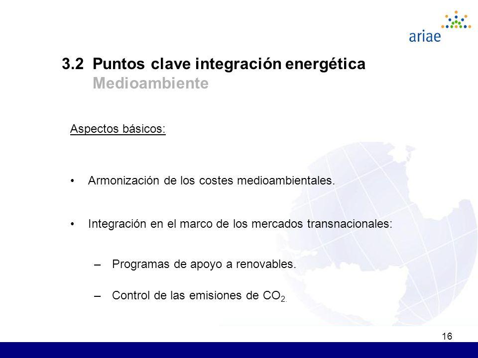 16 Aspectos básicos: Armonización de los costes medioambientales.