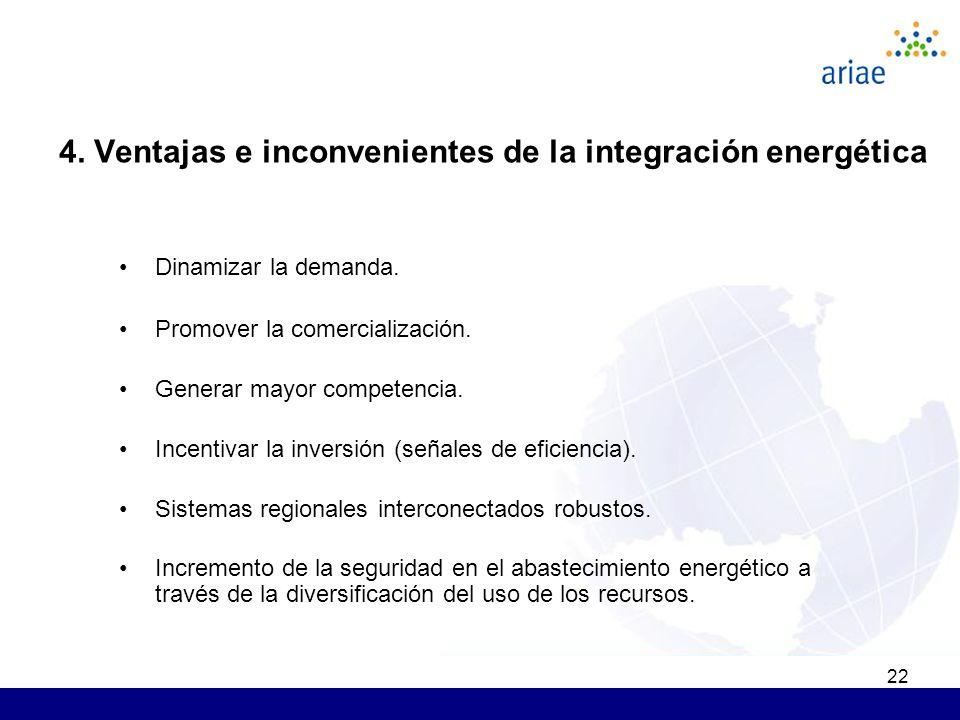 22 Dinamizar la demanda. Promover la comercialización. Generar mayor competencia. Incentivar la inversión (señales de eficiencia). Sistemas regionales
