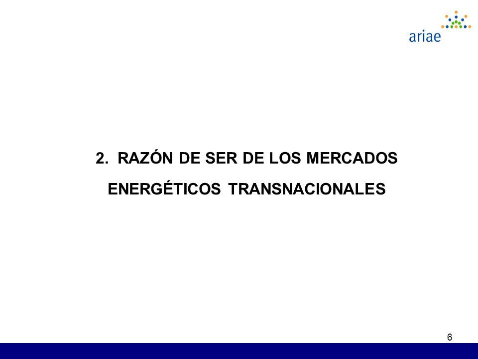 6 2. RAZÓN DE SER DE LOS MERCADOS ENERGÉTICOS TRANSNACIONALES