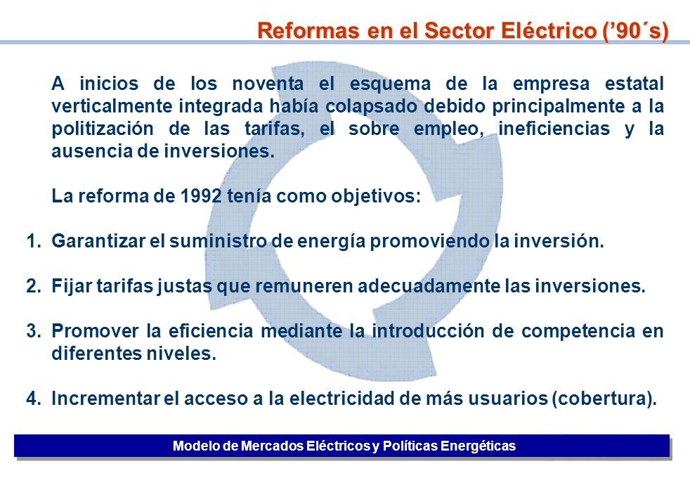 3 A inicios de los noventa el esquema de la empresa estatal verticalmente integrada había colapsado debido principalmente a la politización de las tar