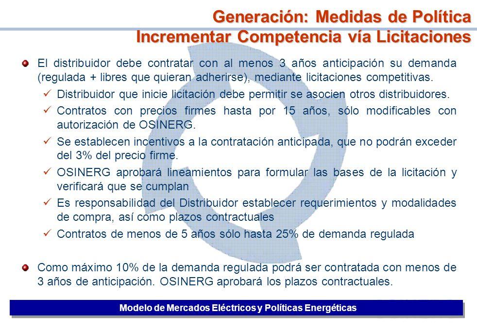 32 El distribuidor debe contratar con al menos 3 años anticipación su demanda (regulada + libres que quieran adherirse), mediante licitaciones competi