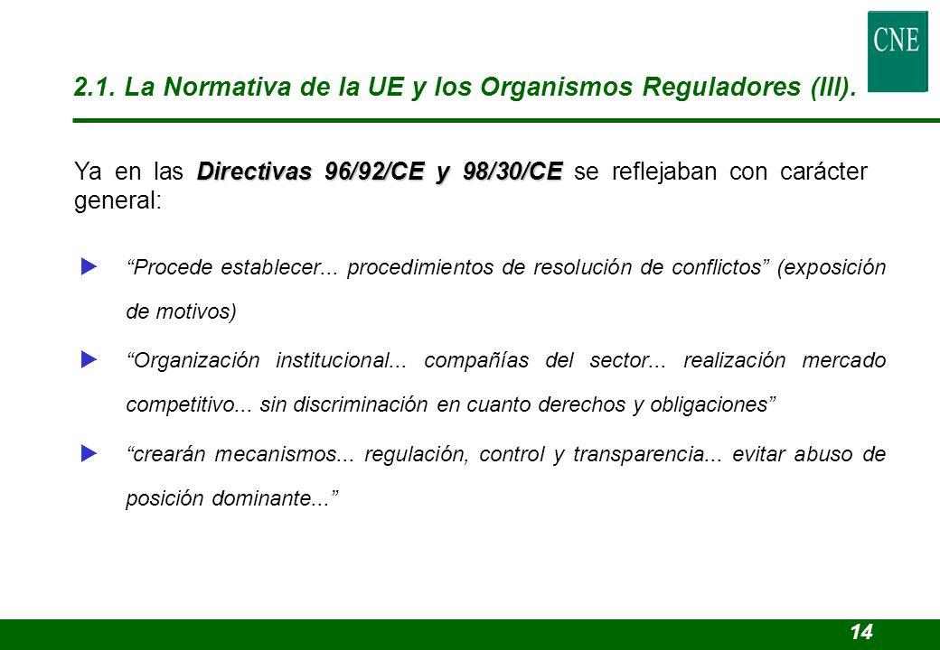 Procede establecer... procedimientos de resolución de conflictos (exposición de motivos) Organización institucional... compañías del sector... realiza