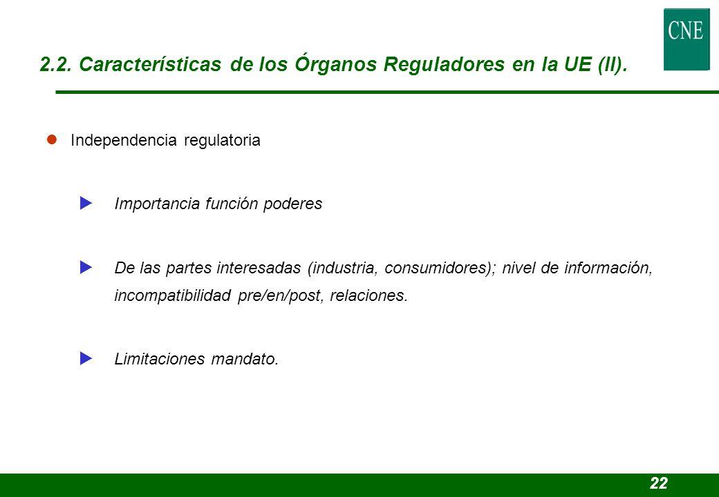 lIndependencia regulatoria Importancia función poderes De las partes interesadas (industria, consumidores); nivel de información, incompatibilidad pre