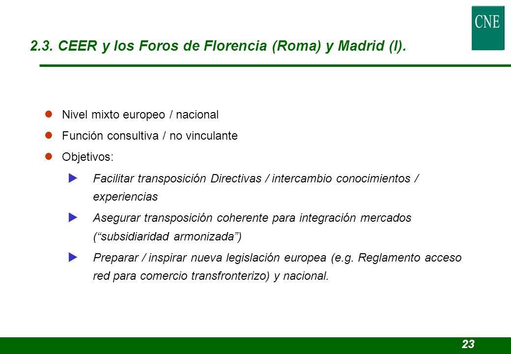 lNivel mixto europeo / nacional lFunción consultiva / no vinculante lObjetivos: Facilitar transposición Directivas / intercambio conocimientos / exper