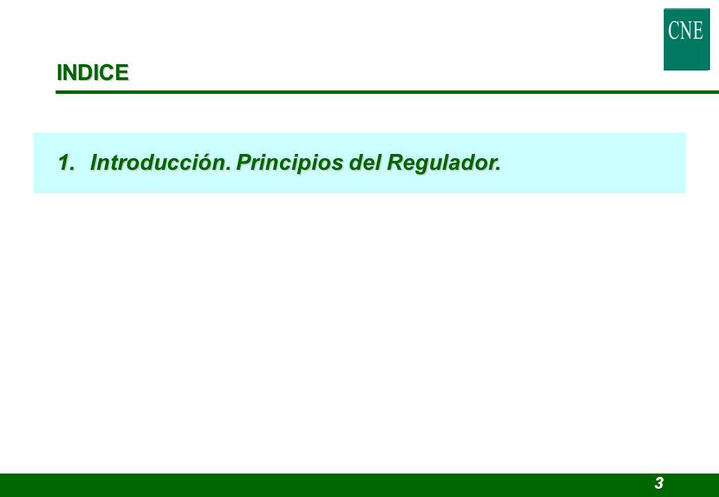 INDICE 1.Introducción. Principios del Regulador. 3