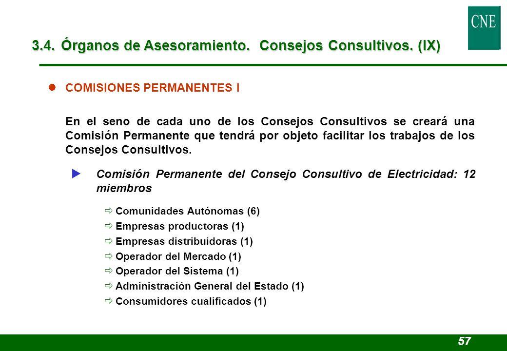 lCOMISIONES PERMANENTES I En el seno de cada uno de los Consejos Consultivos se creará una Comisión Permanente que tendrá por objeto facilitar los tra