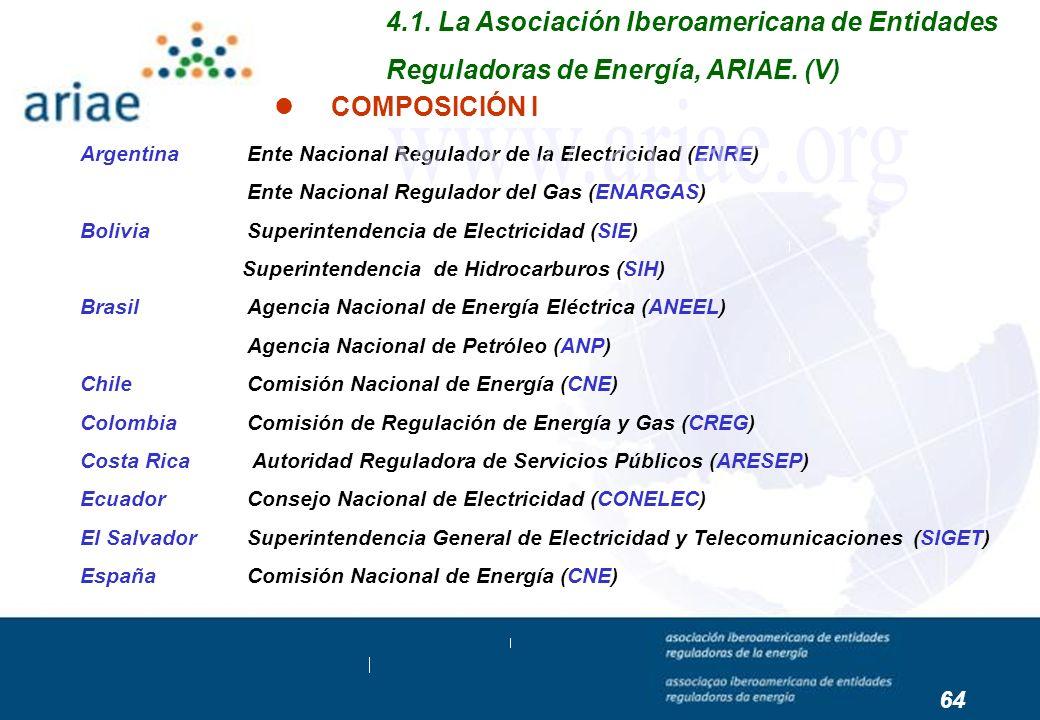 Argentina Ente Nacional Regulador de la Electricidad (ENRE) Ente Nacional Regulador del Gas (ENARGAS) Bolivia Superintendencia de Electricidad (SIE) S