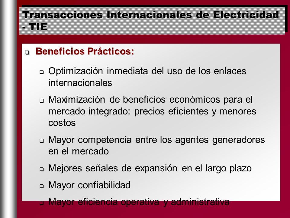 Beneficios Prácticos: Beneficios Prácticos: Optimización inmediata del uso de los enlaces internacionales Maximización de beneficios económicos para e