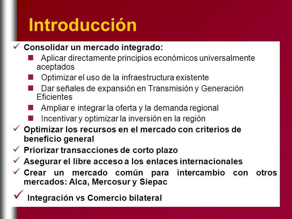 Introducción Consolidar un mercado integrado: Aplicar directamente principios económicos universalmente aceptados Optimizar el uso de la infraestructu