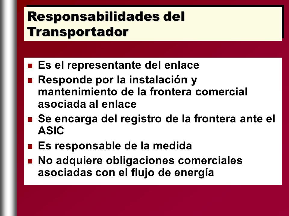 Es el representante del enlace Responde por la instalación y mantenimiento de la frontera comercial asociada al enlace Se encarga del registro de la f