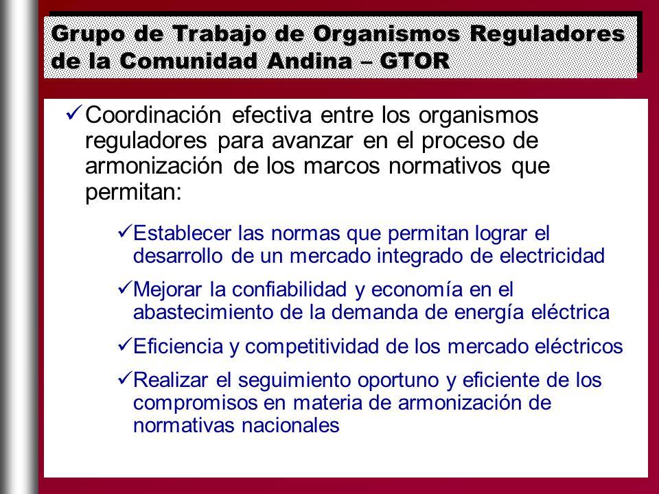 Coordinación efectiva entre los organismos reguladores para avanzar en el proceso de armonización de los marcos normativos que permitan: Establecer la