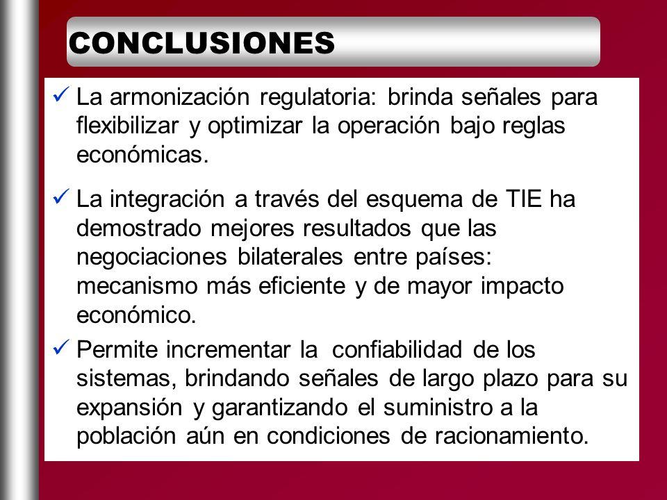 La armonización regulatoria: brinda señales para flexibilizar y optimizar la operación bajo reglas económicas. La integración a través del esquema de
