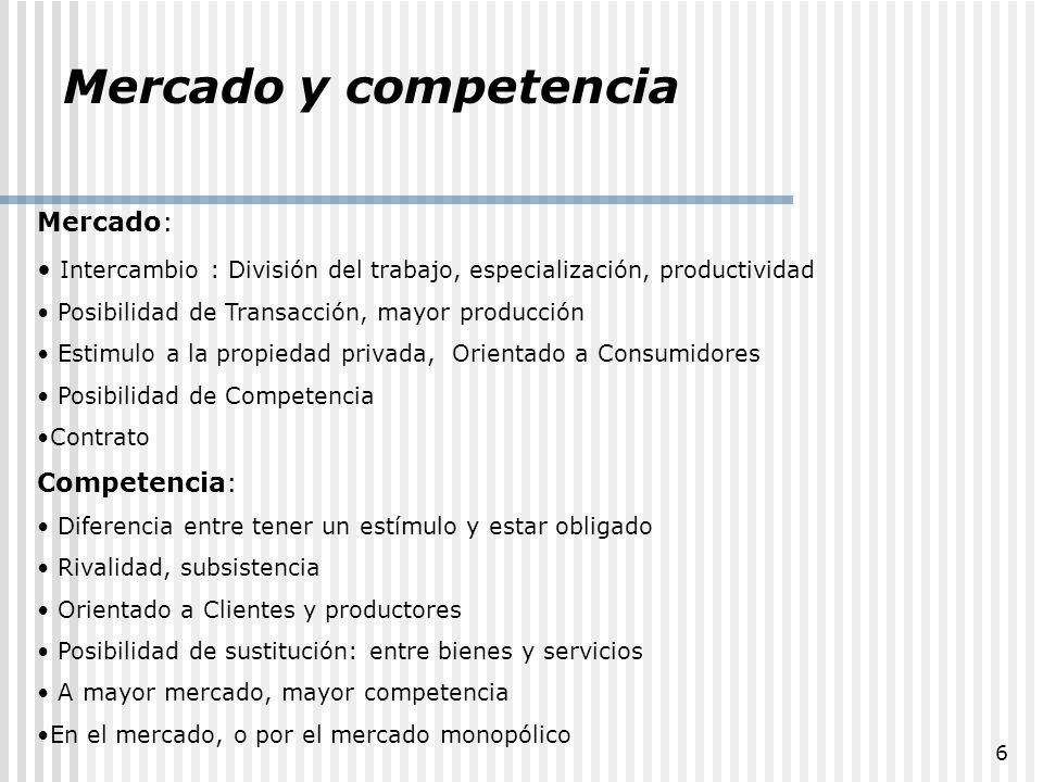 37 Consideraciones La competencia es relativa a las empresas, usuarios y estado La competencia genera eficiencias y optimización de precios y recursos Competencia no es igual que mercado La competencia es temida por los Monopolios, en especial por los no naturales.