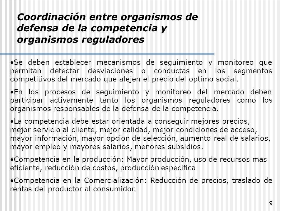 30 ÍNDICES Índice de Herfindahl-Hirschman (HHI) Donde Si participación de la empresa i en el mercado relevante.