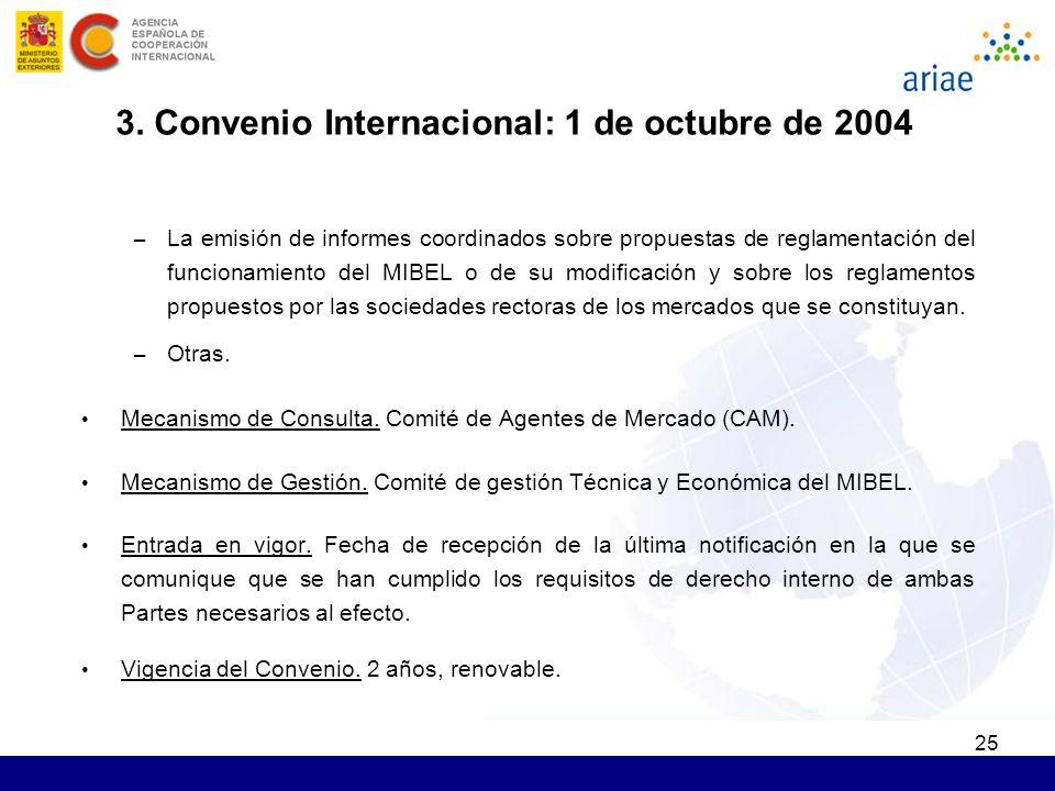 25 – La emisión de informes coordinados sobre propuestas de reglamentación del funcionamiento del MIBEL o de su modificación y sobre los reglamentos p